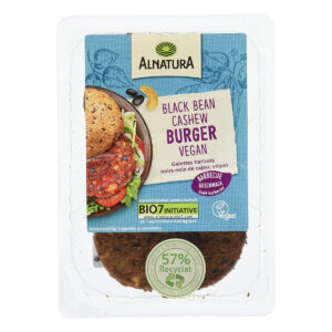 Alnatura Black Bean Cashew Burger