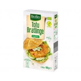 BioBio Vegane Tofu Bratlinge Curry Gemüse