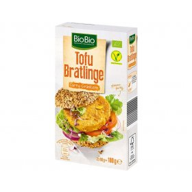 BioBio Vegane Tofu Bratlinge Curry Grünkern