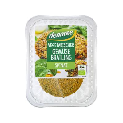 Dennree Vegetarischer Gemüsebratling Spinat